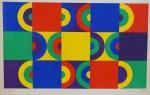 """LUIZ MOLINARI. """"Sem Titulo"""", silkscreen, tiragem 9/115, 46 x 55 cm.  Assinado e numerado à lápis. Emoldurado com vidro, 57 x 67 cm. Acompanha certificado da RO Gallery."""