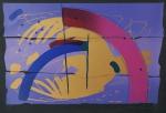 """GILBERTO SALVADOR. """"Pássaro"""", serigrafia, tiragem 22/50, 50 x 70 cm.Assinado e numerado à lápis, Sem moldura."""