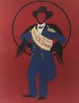 """ROBERT INDIANA. """"General US Grant"""", P.A., litografia, tiragem XXV/XXVI, 58 x 48 cm. Assinado e numerado à lápis. Acompanha certificado RO Gallery.. Emoldurado com vidro, 65 x 54 cm."""