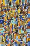 """COSME MARTINS. """"Sem Título"""", óleo s/cartão, 32 x 20 cm. Assinado e datado no verso, Rio,16. Sem moldura."""