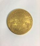Moeda americana 20 dolares 1906, em ouro .900 - Liberty Head - Twenty Dollars - peso 33.4 gr, diâmetro 34 mm
