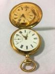 Relógio de bolso - Ancre 12 Rubis Nickell Spiral Breguet Chatton nº 66731, ouro 14 k contrastado em todas as peças, 3 tampas, peso total 74.6 gr