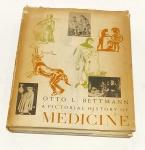BETTMANN, Otto L.; HENCH, Philip S. A Pictorial history of medicine. Illinois: Charles C. Thomas, c1956. 318 p.: il. p&b.; 28 cm x 22 cm. Aprox. 1350 Kg. Assunto: Medicina. Idioma: inglês. Estado: Livro com contracapa rasgada na lombada e capa dura. (CI: 62)