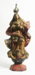 Imagem de Nossa Senhora da Conceição em madeira policromada. Com coroa. Medida: 39cm.