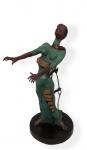 """SALVADOR DALI- """" Woman Aflame""""  escultura em bronze patinado, assinado e numerado 85/350, medindo 50x30x23 cm"""