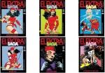 A) ELEKTRA SAGA. Rio de Janeiro: Abril, n. 1, 2, 3, 4, 5, 6. Jan./Jun. 1989. 6 v.: il. col.; 13,5 x 19 cm. Idioma: Português. Estado: Revista em quadrinhos com as folhas envelhecidas. Gênero: Super-heróis e Status: Série completa de 6 fascículos.                                                                                               B) ELEKTRA ASSASSINA. Rio de Janeiro: Abril, n. 3, 4. Out./Nov. 1988. 2 v.: il. col.; 17 x 26 cm. Idioma: Português. Estado: Revista em quadrinhos com as folhas envelhecidas. Gênero: Super-heróis e Status: Série completa de 4 fascículos.                                                                                               C) SUPERALMANAQUE MARVEL. Rio de Janeiro: Abril, n. 1, 3, 5. 1989 - 1992. 3 v.: il. col.; 13,5 x 19 cm. Idioma: Português. Estado: Revista em quadrinhos com as folhas envelhecidas. Gênero: Super-heróis e Status: Título encerrado.                                                                            D) GRANDES HERÓIS MARVEL. Rio de Janeiro: Abril, n. 2, 12, 15, 21, 22, 26, 28, 29, 30, 31, 32, 34. 1986 - 1991. 12 v.: il. col.; 13,5 x 19 cm. Idioma: Português. Estado: Revista em quadrinhos com as folhas envelhecidas. Gênero: Super-heróis e Status: Título encerrado.    E) ÉPICOS MARVEL. Rio de Janeiro: Abril, n. 1, 2, 3. Out./Dez. 1991. 3 v.: il. col.; 13,5 x 19 cm. Idioma: Português. Estado: Revista em quadrinhos com as folhas envelhecidas. Gênero: Super-heróis e Status: Título encerrado.                                                                                            F) TOCHA HUMANA. Rio de Janeiro: Bloch Infanto Juvenil, n. 4, 7, 8, 9, 11, 13, 14. 1975 - 1976. 7 v.: il. col.; 13,5 x 20,5 cm. Idioma: Português. Estado: Revista em quadrinhos com as folhas envelhecidas. Gênero: Super-heróis e Status: Título encerrado.                                                   G) SUPER-HERÓIS MARVEL. Rio de Janeiro: RGE, n. 27, 28, 29, 30. Set./Dez. 1981. 4 v.: il. col.; 13,5 x 19 cm. Idioma: Português. E