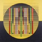 PEDROSA, Israel. Círculos e quadrados II. 1978. O.S.T., 70 x 70 cm (sm) e 94 x 94 cm (c/m). Assinado, datado e intitulado no verso. Inscrição: 25 MASP, 1978 (identificando que o quadro participou da exposição do artista neste ano).