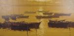 ROMANELLI, Armando. Marinha. 1993. O.S.T., 61 x 121 cm (sm) e 92 x 152 cm (c/m). Assinado, datado e intitulado no verso no CIE.