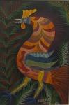 SILVA, Chico da (Francisco Domingos). Galo. 1975. O.S.T., 67 x 45 cm (sm) e 90 x 68 cm (c/m). Assinado e datado no CID. OBS: Este quadro faz par com o lote ...