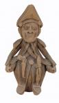 """MESTRE GERALDINO (1924/1996). """"Lampião"""", Alto do Moura, PE, 1980, cerâmica medindo 37 x 23 cm, assinada 'Geraldino do Alto do Moura. Caruaru"""". Pescoço e chapéu rachados."""