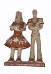 """NOEMISA BATISTA DOS SANTOS. """"Batizado"""", Vale do Jequitinhonha-MG, peça em cerâmica policromada medindo 24 x 15 x 7 cm. Assinada."""