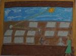 AMELIA ZALUAR. Guache e nanquim sobre papel, medindo 32 x 43 cm sem moldura. Assinado e datado no c.i.d., 15/5/97. Apresenta dedicatória no verso.