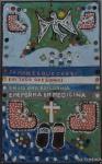 A. C. Timbuca - Magé -RJ. Pintura sobre eucatex e vários materiais. Ass. c.i.d. e datado no verso 9-3-2003.