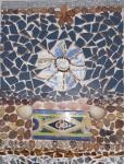Mosaico - diversos materiais. 40 x 30.