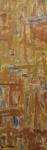 """COSME MARTINS. """"Sem Titulo - Bege"""", acrilico s/tela, 144 x 46 cm. Assinado no CIE, datado 008. Sem moldura."""