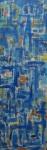 """COSME MARTINS. """"Sem Titulo - Azul"""", acrilico s/tela, 144 x 46 cm. Assinado no CIE, datado, 09. Sem moldura."""