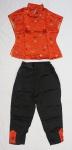 Roupa Oriental feminina. composta de blusa e calça, tamanho 36.