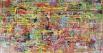"""E. Boechat """" Composição Abstrata"""" , díptico. Tec. mista med. 98 x 160 cm . Assinado no verso."""