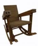 Pequena cadeira de balanço em madeira nobre .Década de 70. Medidas 60 x 60 x 65 cm.