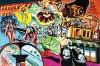 """ALOYSIO ZALUAR . """"Carnaval"""", acrílico sobre tela colada em eucatex, med. 98 x 65 cm. Assinado csd,RJ-BR 2012."""