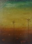 """ORLANDO TERUZ (1902 - 1984). """"Paisagem"""", óleo s/tela, 34 x 26 cm. Assinado no CID e no verso , localizado e datado, 1966. Emoldurado, 56 x 48 cm."""