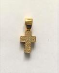 Amsterdan Sauer. Pingente de crucifixo em ouro amarelo 18k.  c/147 brilhantes brancos. peso total 5.5 g