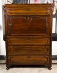 Secretaria Papeleira Inglesa Abatan em madeira nobre, ccm 4 gavetas ( falta chave para abrir). Medidas 140 x 101 x 55 cm.