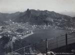 """DK . """"Rio de Janeiro - Panorama tomado do Alto do Pão de Açúcar, destacando o Corcovado"""", fotografia, 16 x 22 cm. Assinado cid. (09187)"""