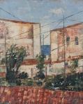 """JOSE PAULO MOREIRA DA FONSECA. """"Sem titulo"""", óleo s/tela, 29 x 14 cm. Assinado cid, datado 1968. (08300)"""
