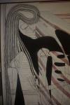 "KATHARINA WELPER - ""Sem título"", acrílico sobre tela, sem assinatura. Medida, 155 x 105 cm (9315)."