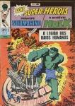 PRÍNCIPE SUBMARINO E O INCRÍVEL HULK -Super X  (5ª Série). Rio de Janeiro: Ebal, n. 21, maio 1969. 48 p.: il. p&b.; 18 cm x 26 cm. Capa colorida. Lombada com gramos. Idioma: Português. Estado: Capa e folhas envelhecidas com marcas do tempo. Gênero: Super-heróis e Status: Título encerrado.