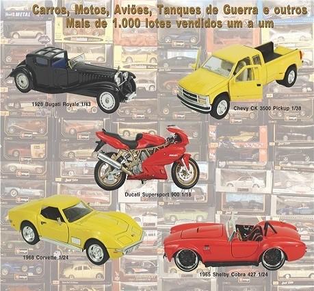 Grande Leilão de Miniaturas - Motos, Carros, Quadriciclos e Jet-Skys