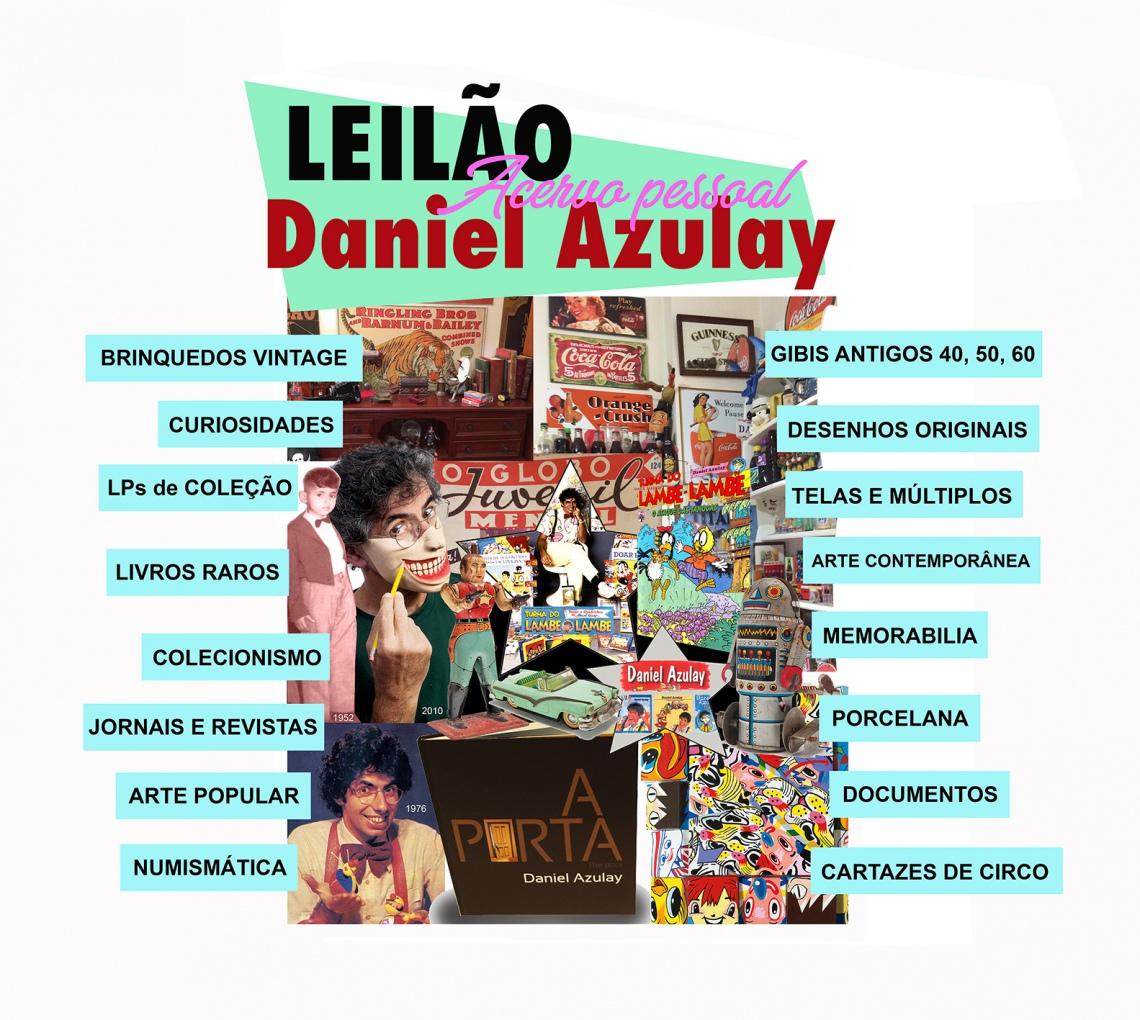 LEILÃO DA GENEROSIDADE - ACERVO PESSOAL  DANIEL AZULAY ( Arte, colecionismo,decoração e muito mais )