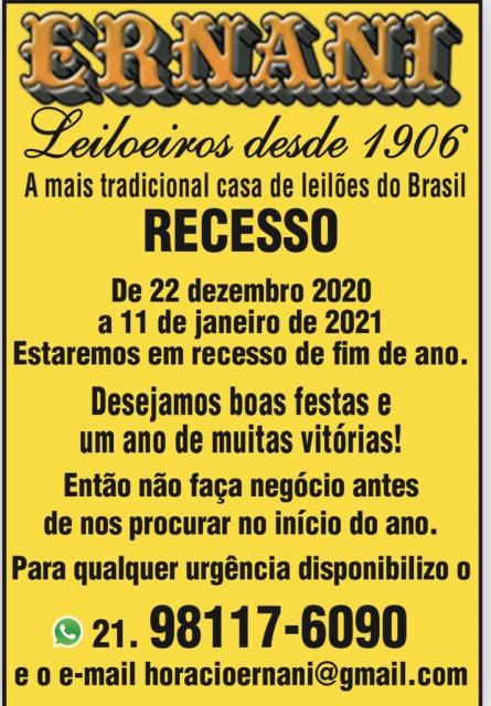 SEGUNDO LEILÃO VIP COMEMORATIVO DE 114 ANOS DE TRADIÇÃO ERNANI