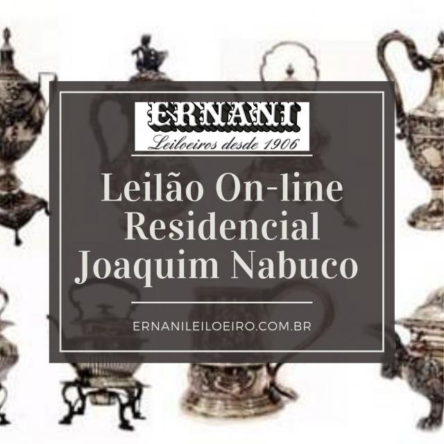 GRANDE LEILÃO RESIDENCIAL  JOAQUIM NABUCO E ESPÓLIO