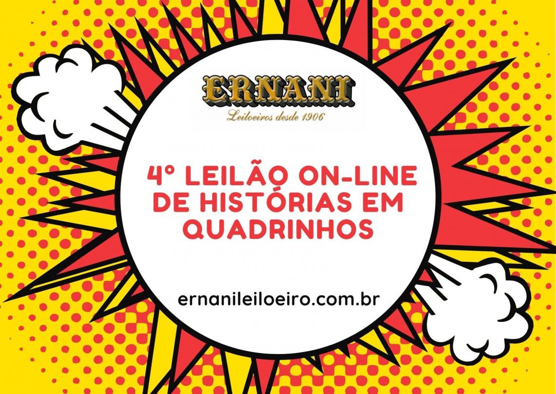 4º LEILÃO DE HISTÓRIAS EM QUADRINHOS - RAROS, GIBIS DOS ANOS 40/50/60/70 e 80